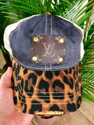 Denim and Leopard Snap Back
