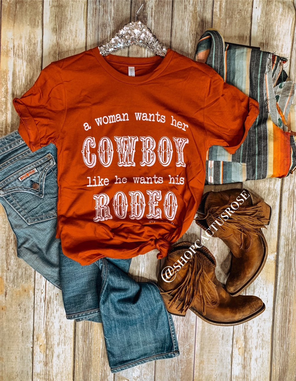 A Woman Wants Her Cowboy Tee