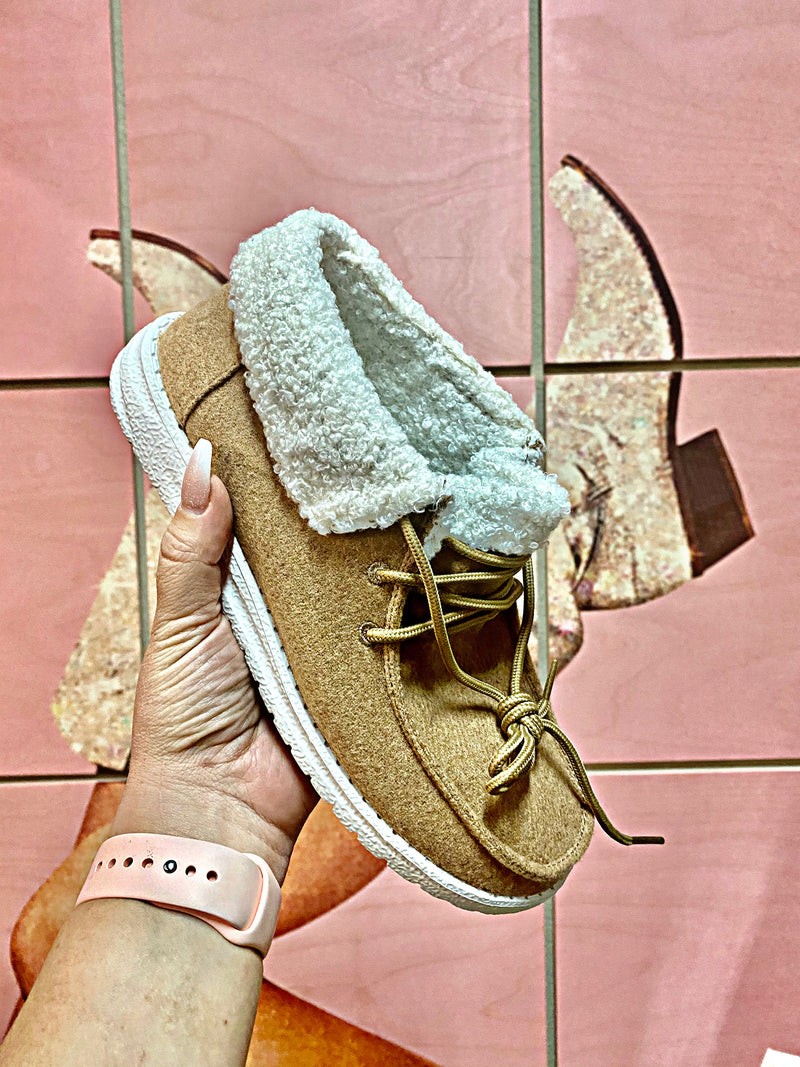 Tennessee Tan Sherpa Sneakers