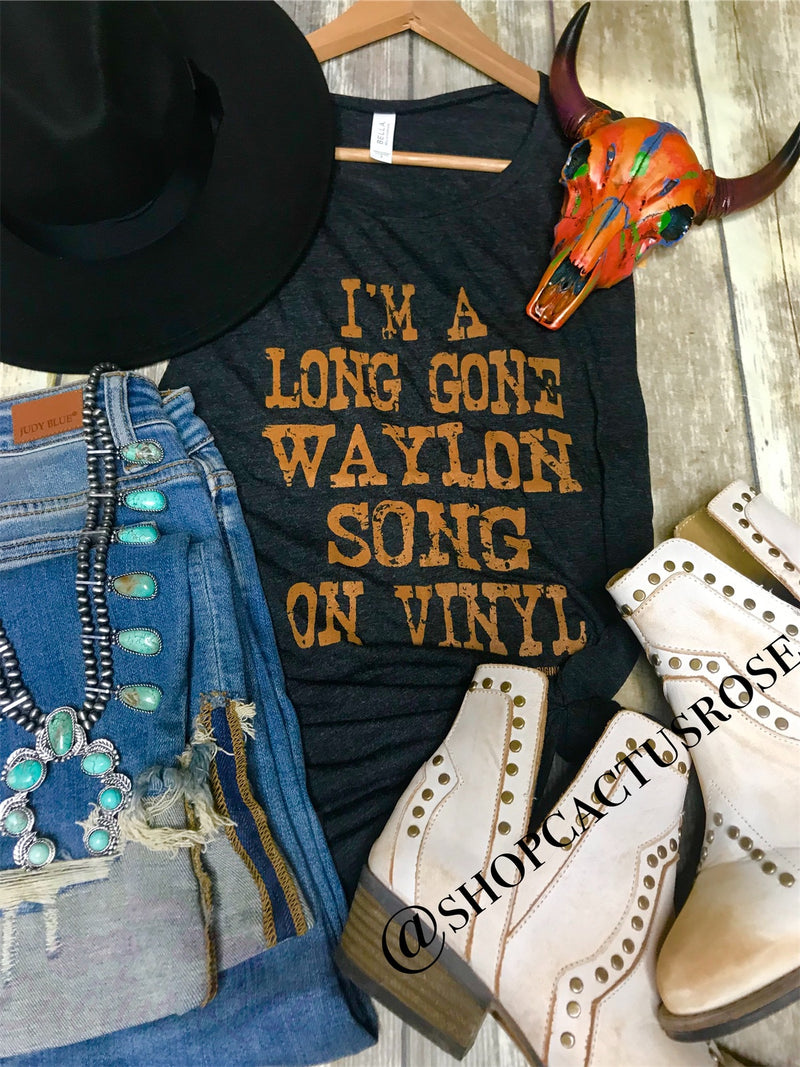 Long Gone Waylon Song Graphic Tank
