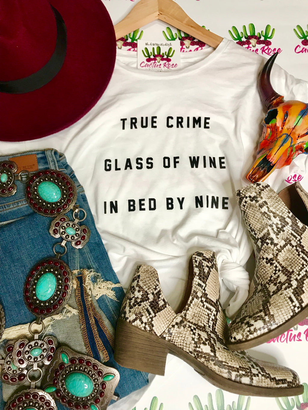 True Crime, Glass Of Wine Tee