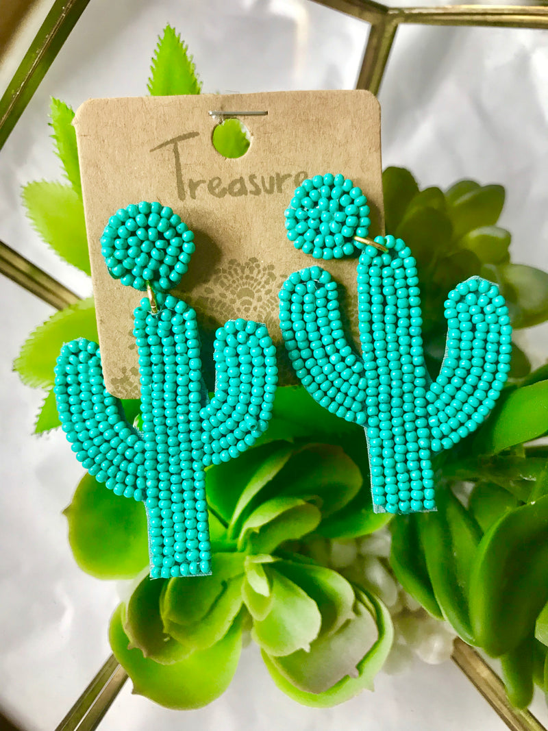 Turquouse Saguaro Earrings