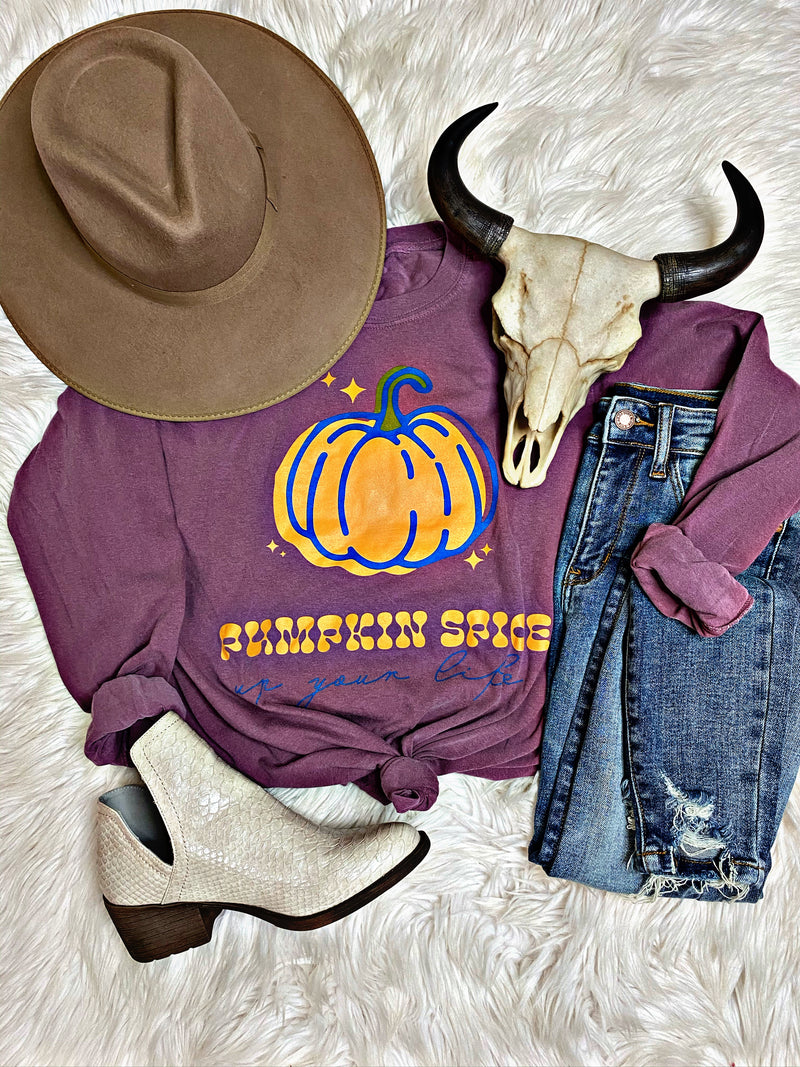 Plum Pumpkin Spice Long Sleeve Tee