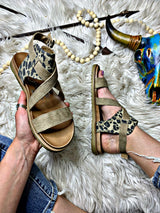 7 Summers Leopard Strappy Sandals