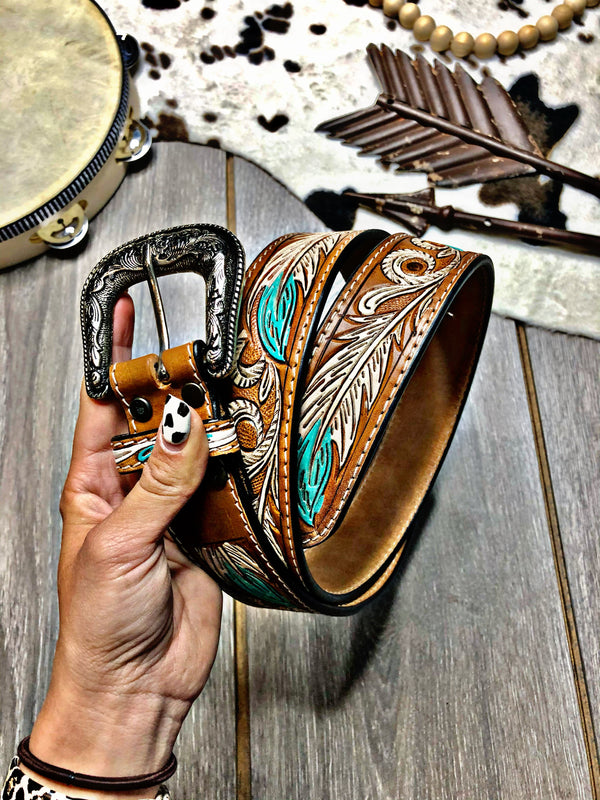 Follow You To Virgie Hand Tooled Belt