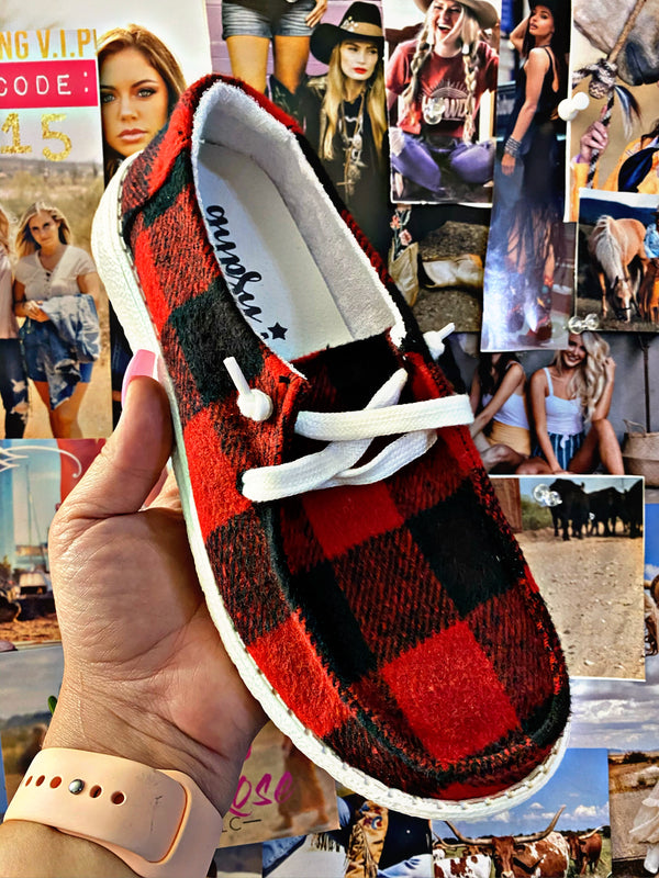 Plaid It Right Gypsy Jazz Sneakers
