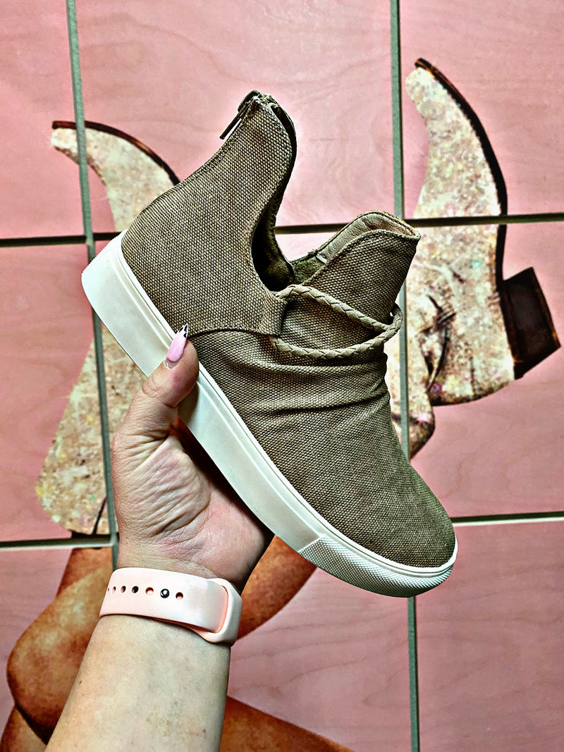 Downton Taupe Hightop Shoes
