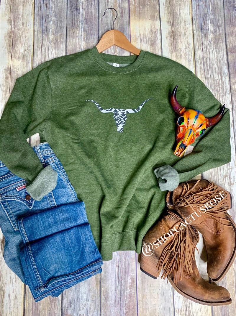Olive Steer Sweatshirt