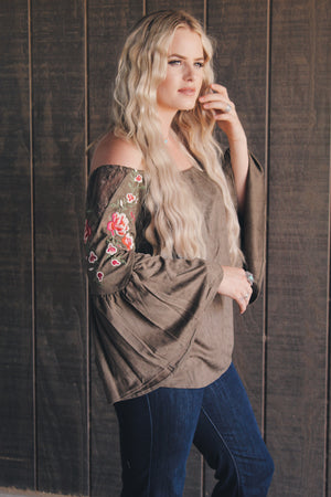 Modern Day Olive Hippie Top