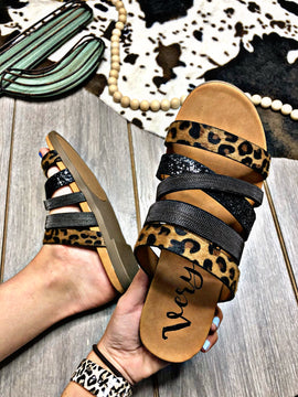Wrapped In Leopard Sandals
