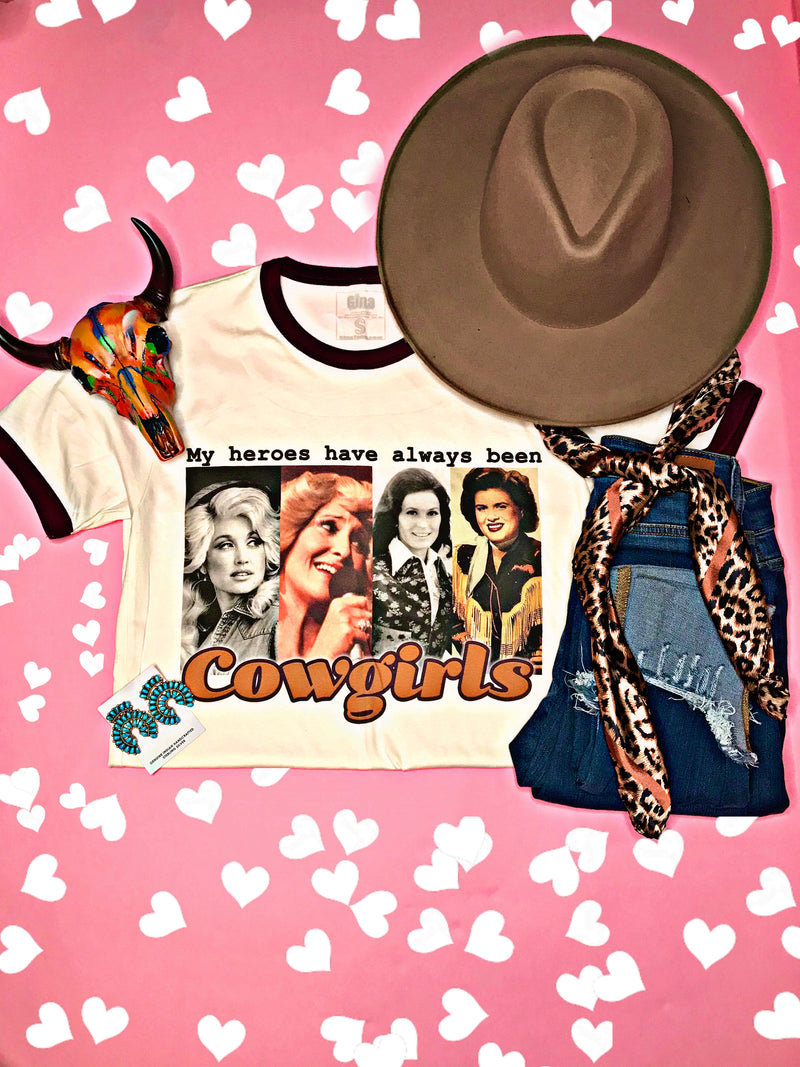 My Heroes Have Always Been Cowgirls Tee