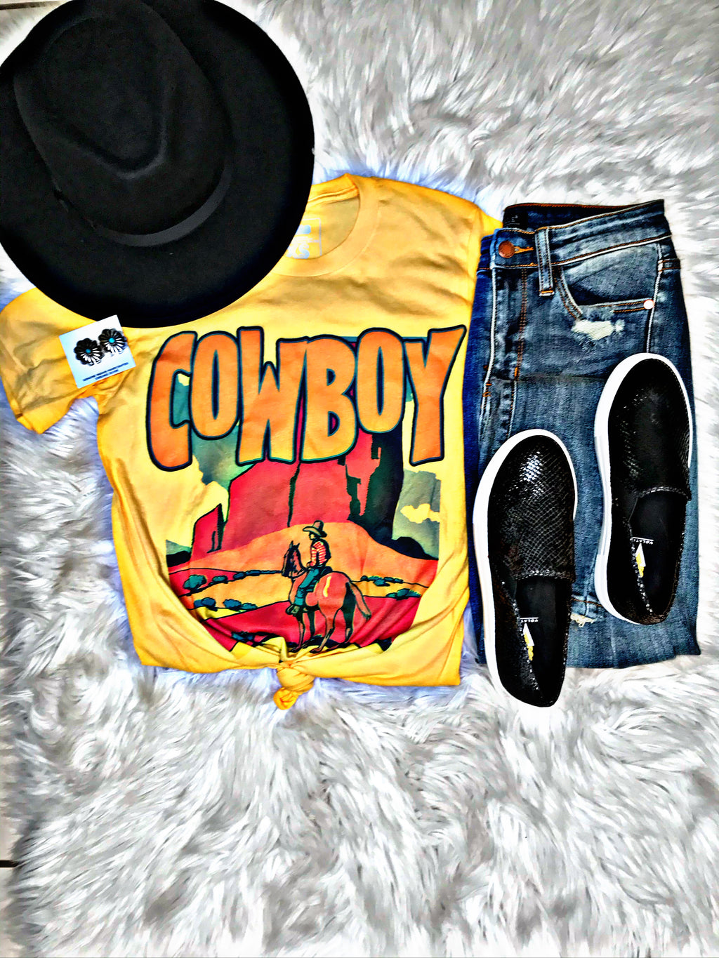 Golden Hour Cowboy Tee