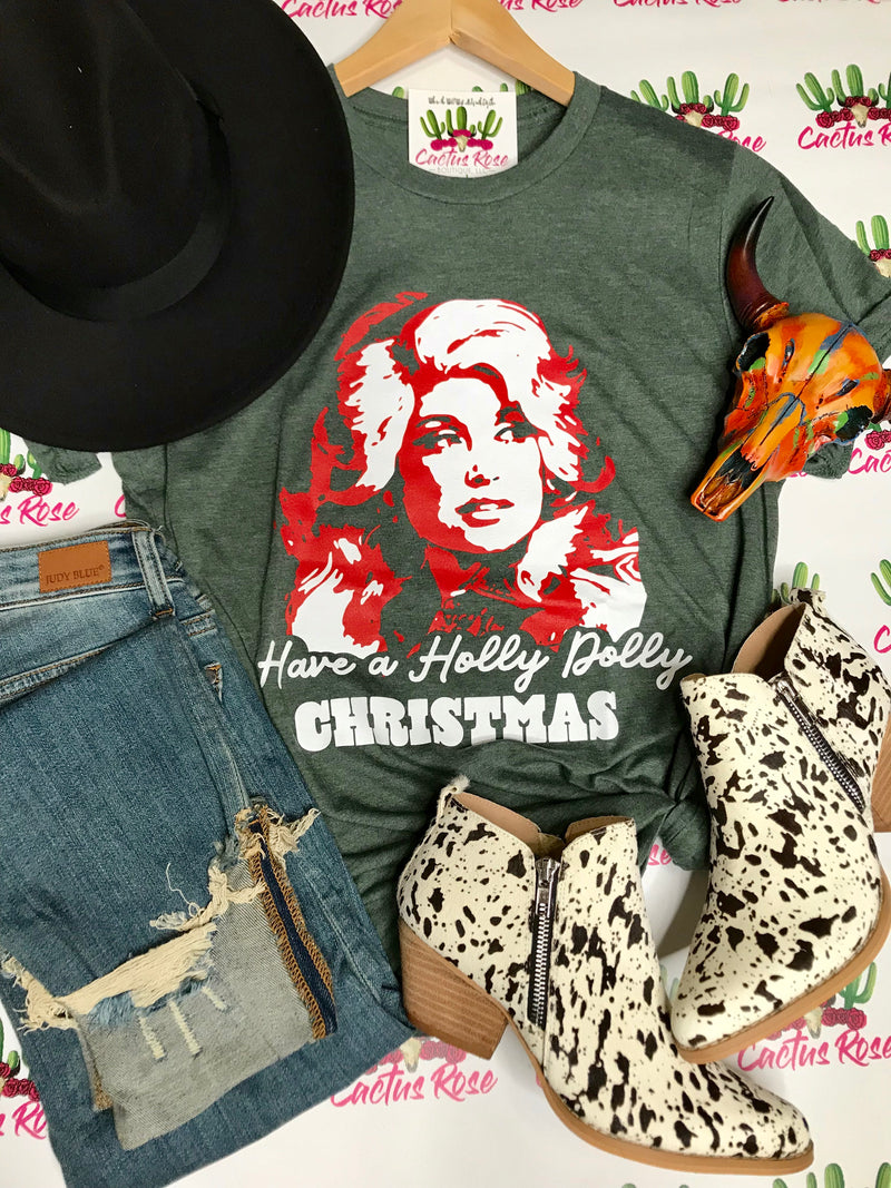 Have A Holly Dolly Chirstmas Tee