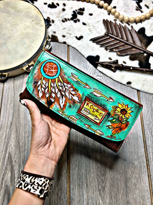 Rodeo West Hand Painted Wallet