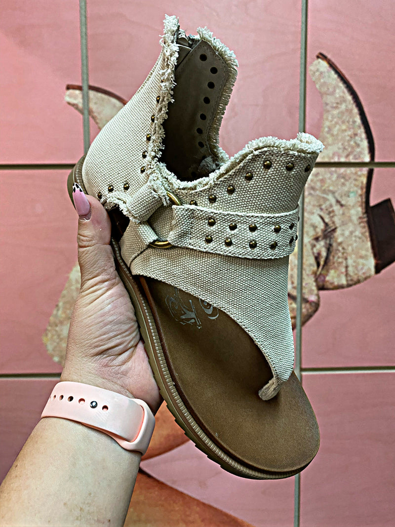 Brunch Babe Cream Studded Sandals