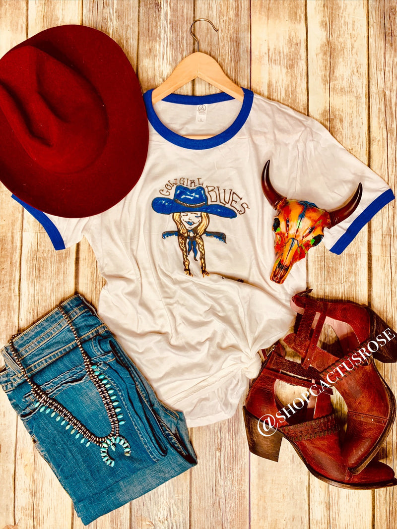 Cowgirl Blue Tee