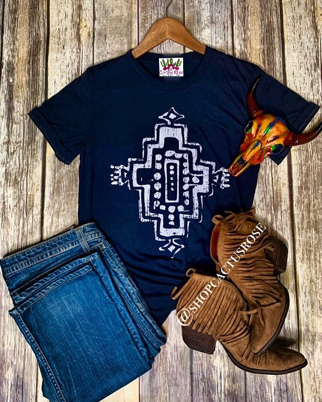 Midnight Aztec Tee