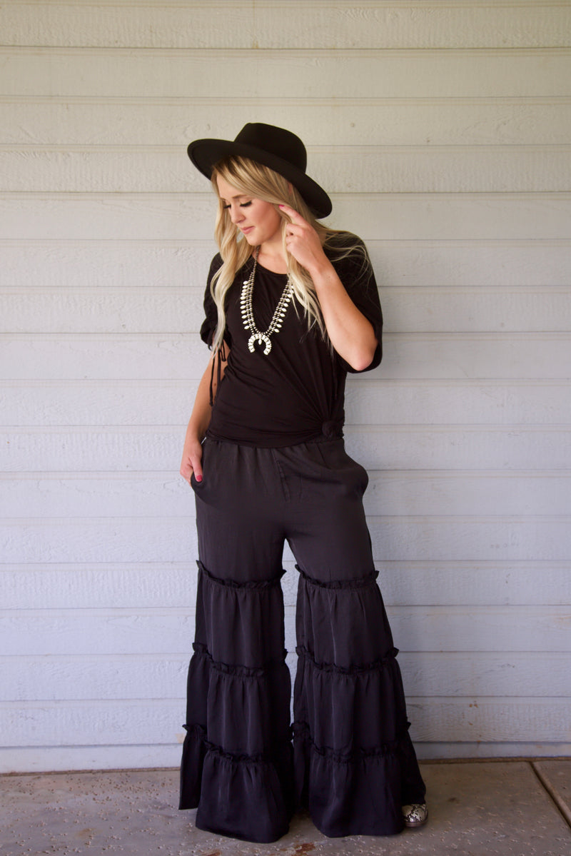 Midnight Ruffle Pants