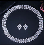 Load image into Gallery viewer, Cubic zirconia Wedding necklace set princess jewelry set