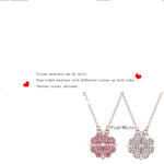 Load image into Gallery viewer, Heart necklace 4 in 1 clover shape reversible necklace - WISHKAA.COM