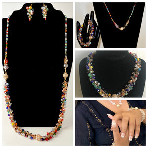 Holiday magic Magnet Crystal necklace set All in one share to others