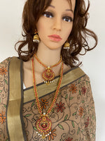 Load image into Gallery viewer, Indian necklace combo earrings wedding jewelry set