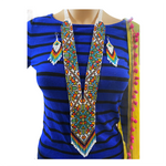Cargar imagen en el visor de la galería, Handcrafted bead necklace earrings set gift jewelry