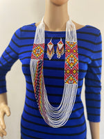 Load image into Gallery viewer, Handcrafted Bead necklace earrings set boho jewelry