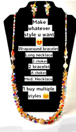Cargar imagen en el visor de la galería, Holiday magic Magnet Crystal necklace set All in one share to others
