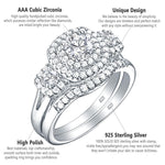 Load image into Gallery viewer, Wedding Ring Set For Women 925 Sterling Silver Classic Jewelry 1.3 Ct Round Cut AAA Cubic Zirconia - WISHKAA.COM