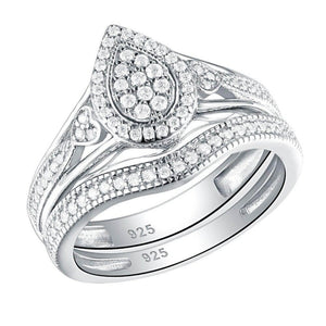 Cubic Zirconia Wedding Ring Round Cut AAA CZ Trendy Jewelry