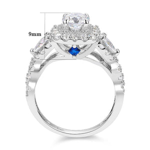 wedding rings set cubic zirconia 925 Sterling Silver 1.5 Ct AAA cz women