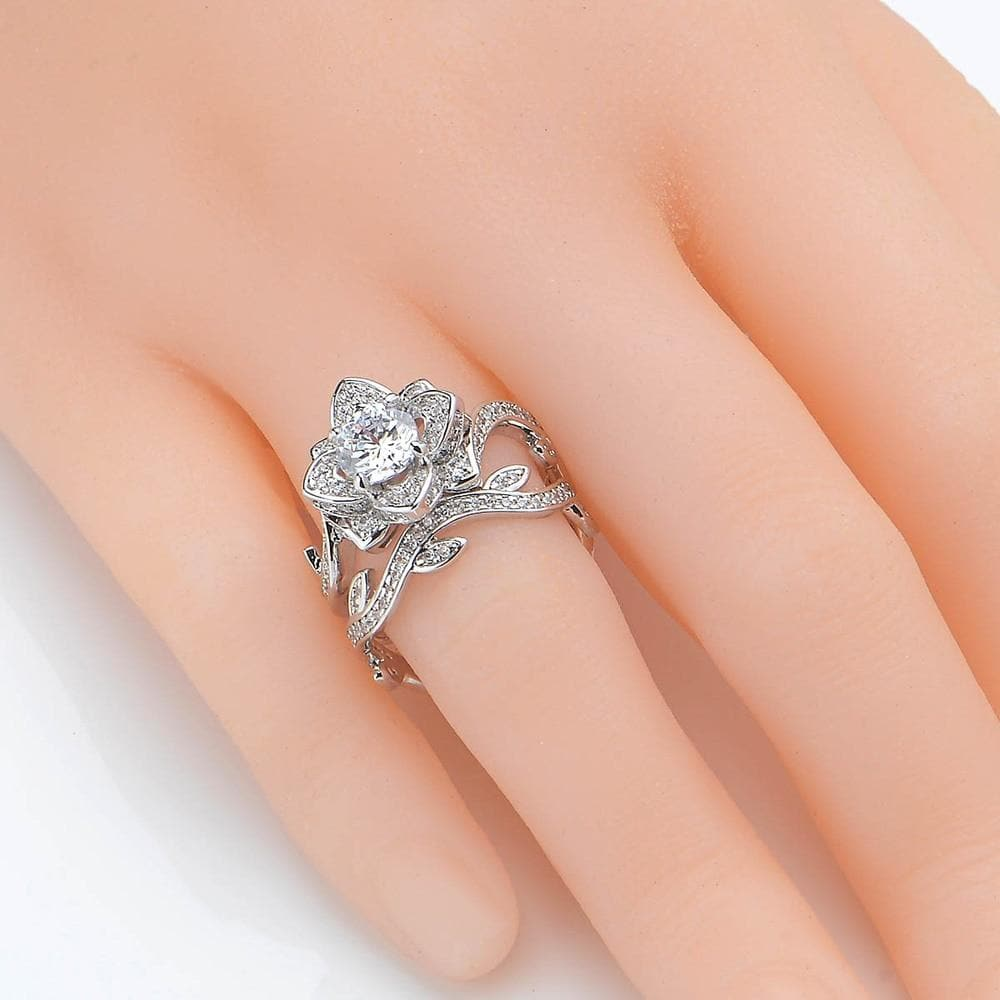 Wedding Ring Set 2.3 Ct 925 Sterling Silver Jewelry For Women