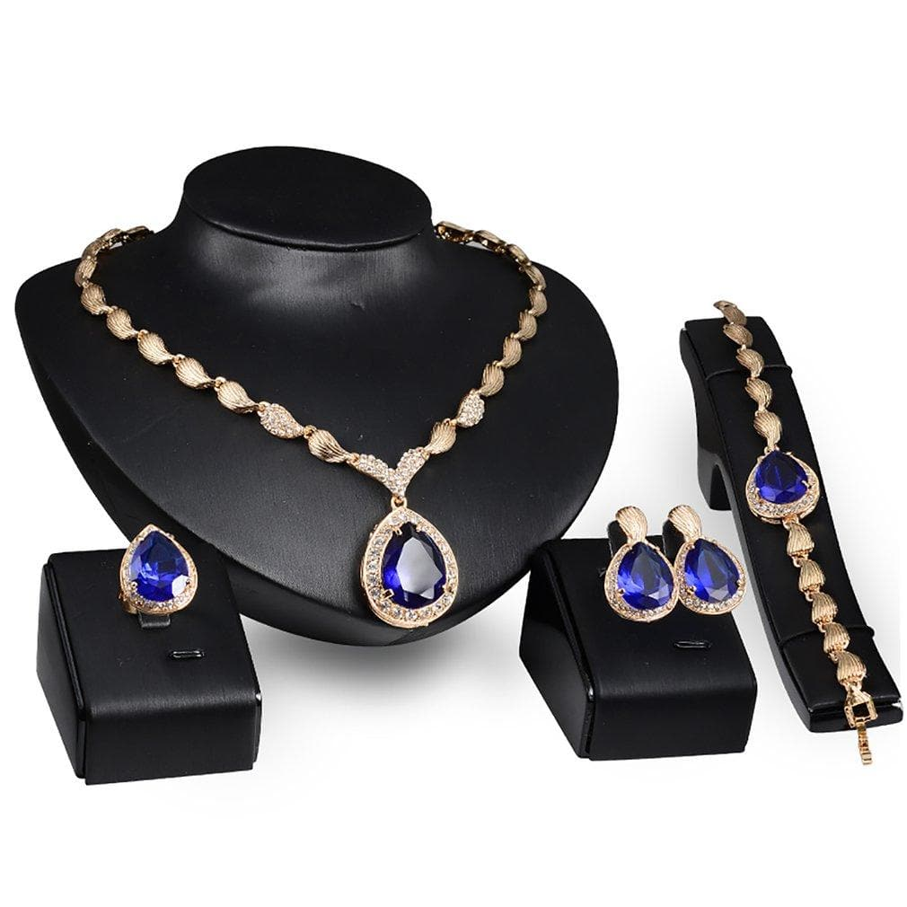 Necklace Earrings Bracelet ring Jewelry Set for women