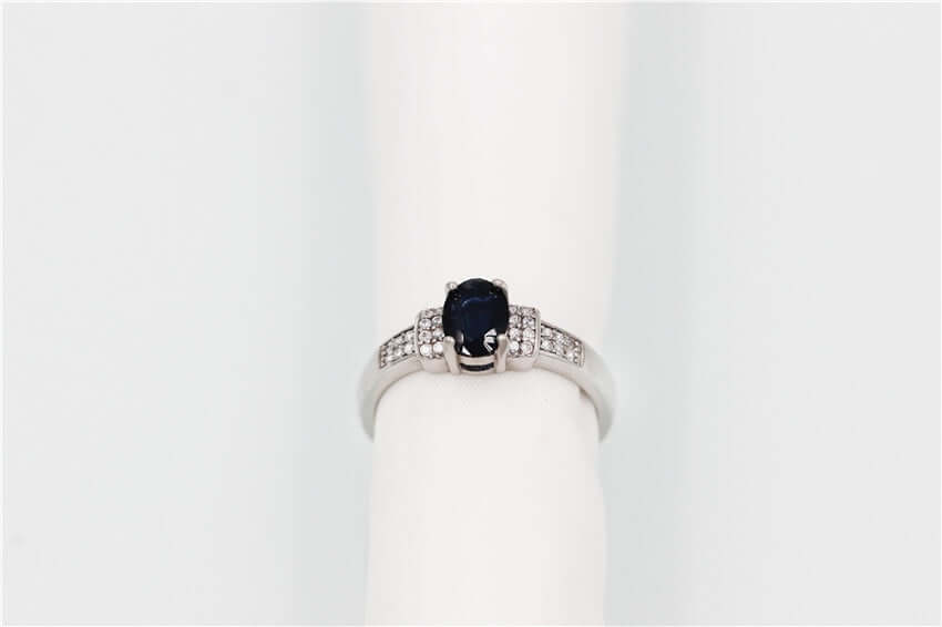 Blue Sapphire Ring Natural gemstone 925 Sterling Silver Fine Jewelry for Women