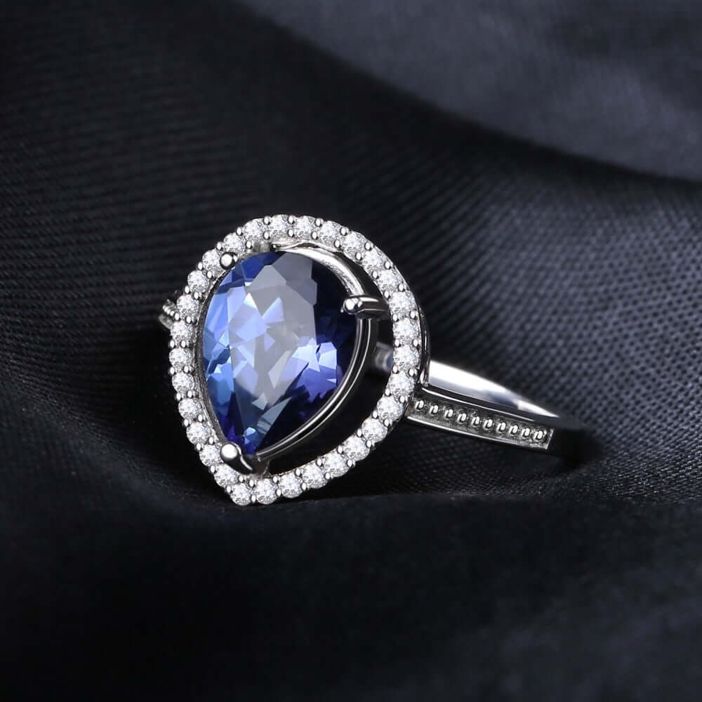 Blue Quartz ring in 925 Sterling Silver Mystic Jewelry - WISHKAA.COM
