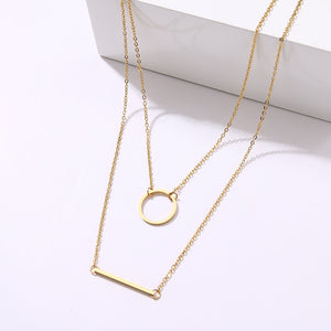 Necklace non tarnish geometric bar Pendant Charm Statement Stainless Jewelry gift