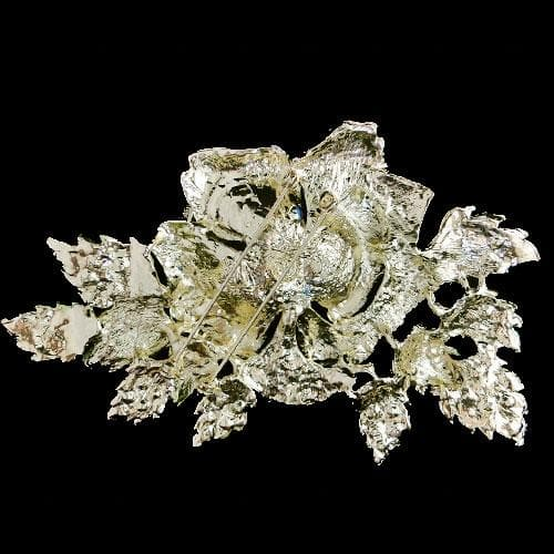 Crystal Rose Flower Brooch scarf pendant Pins Jewelry For Women Party
