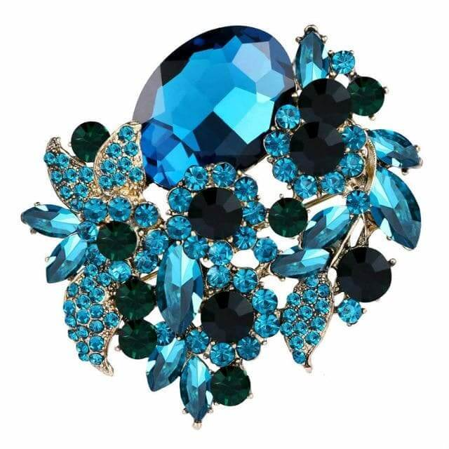 Flower Brooch Austrian crystal For Women Charm Pendant Party Jewelry