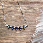 Load image into Gallery viewer, Blue Sapphire Necklace Authentic 925 Sterling Silver, Gemstone jewelry