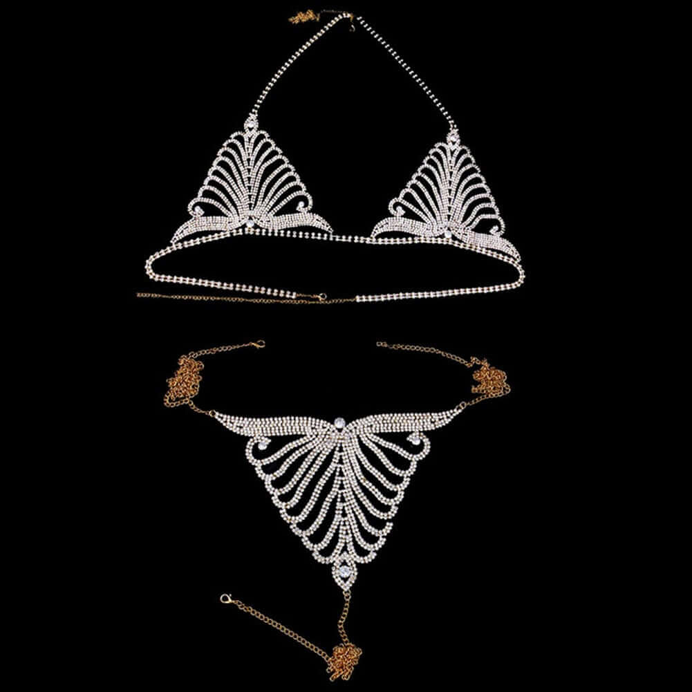 Body jewelry Crystal Bikini Set cover for Women Rhinestone Body Chain