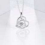Load image into Gallery viewer, Heart Pendant Necklace Moissanite 5.0mm 0.5Ct 925 Sterling Silver - WISHKAA.COM