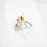 Load image into Gallery viewer, Ring Garnet natural Gems 925 Sterling Silver Butterfly Adjustable Women Ring