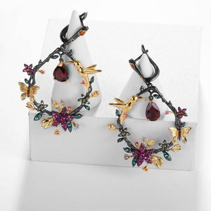Earrings Handmade 925 Sterling Silver Natural Garnet Gemstone Women's Drop Earrings Fine Jewelry