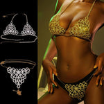 Load image into Gallery viewer, Crystal Body Jewelry bikini Chain for Women Rhinestone Statement accessory