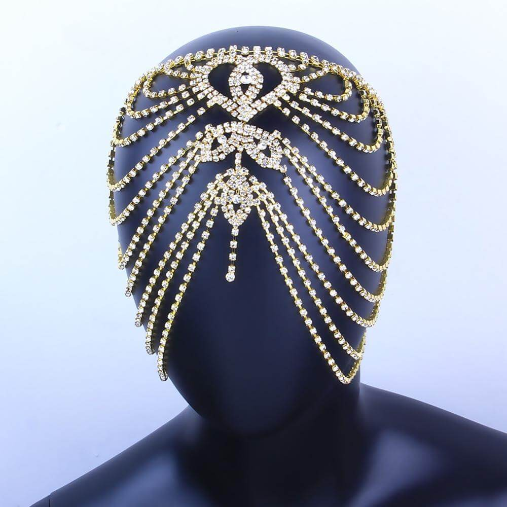 Hair accessory Rhinestone Forehead Jewelry Indian Headpiece for Women