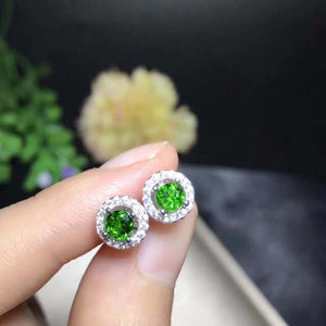 Earrings for Women 925 Sterling Silver 4*mm*2 PC Natural Gemstone Wedding Jewelry