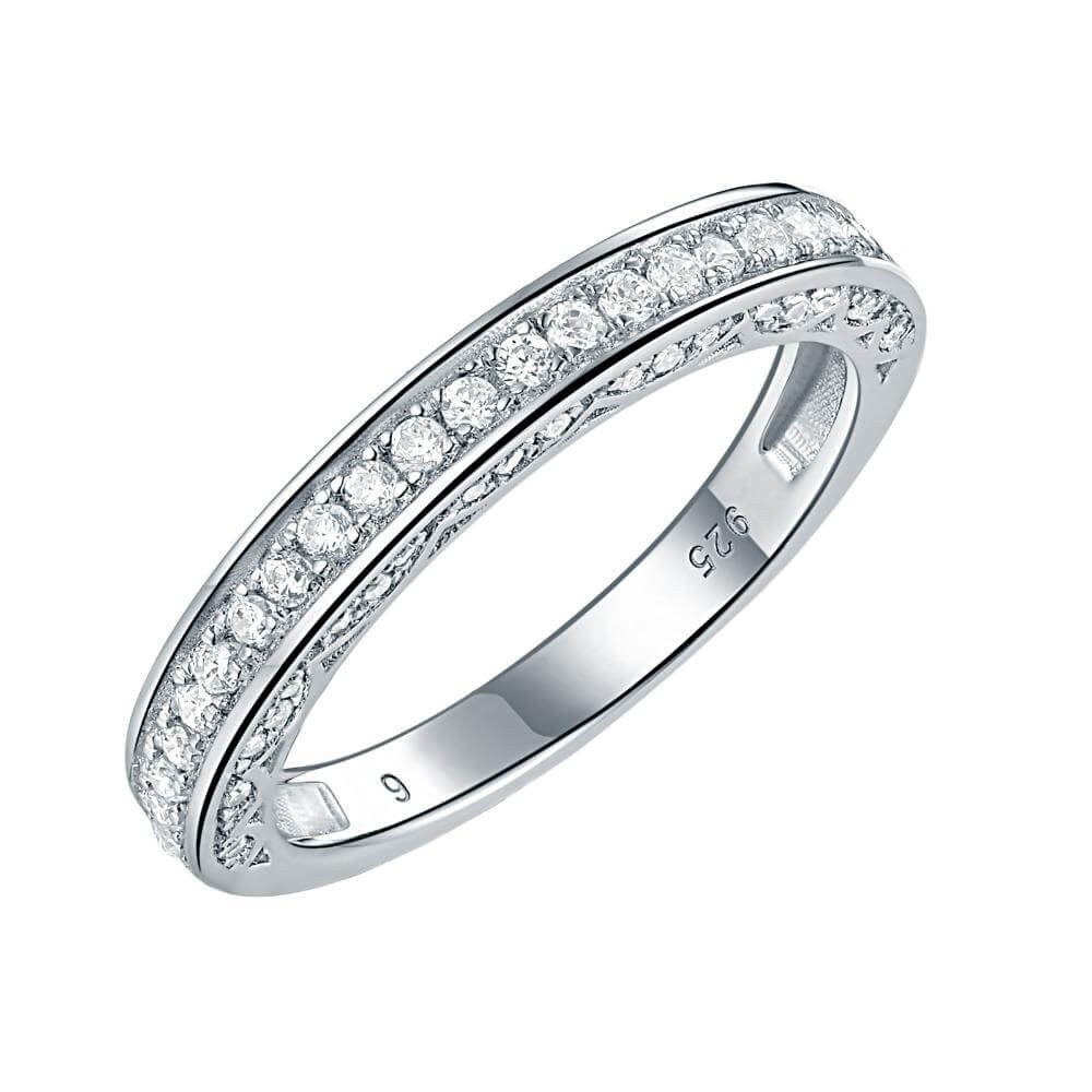 925 Sterling Silver Stackable Wedding Ring Engagement Band For Women Trendy Jewelry