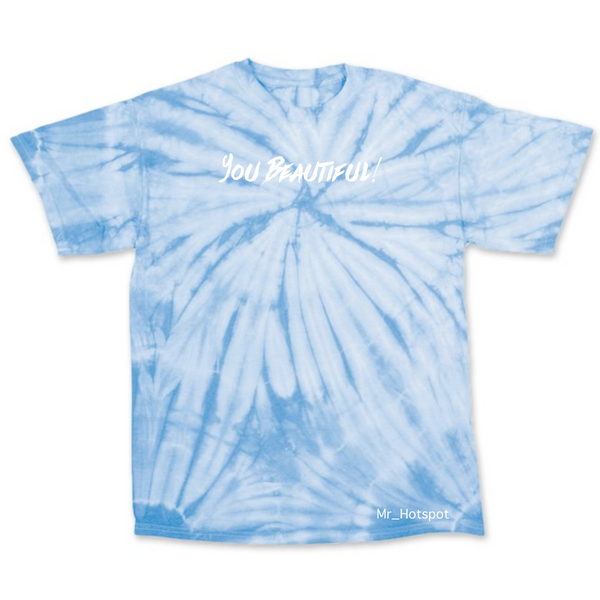 You Beautiful! V2 Blue Tie dye T shirt