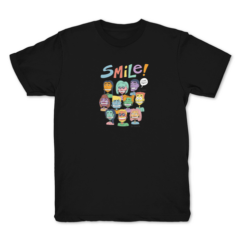 Smile Black T shirt